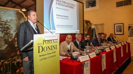In primo piano, il direttore de La Nazione Francesco Carrassi (Foto Crocchioni)