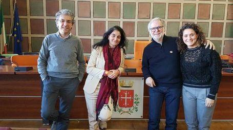 L'assessore Chiofalo insieme a don Bigalli, Tognoli e Bartolini