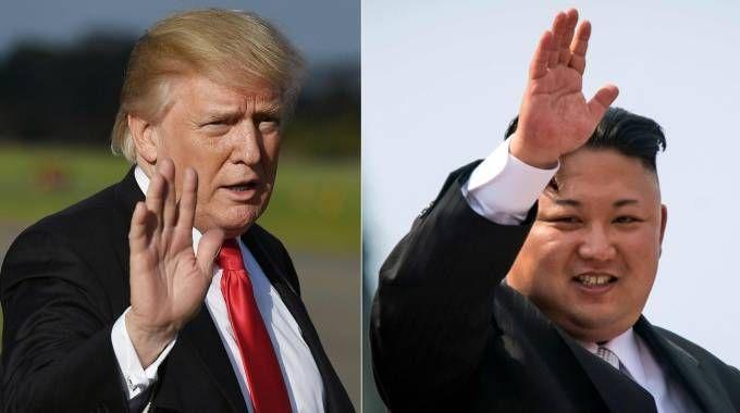 Combo: Donald Trump e Kim Jong Un (Afp)