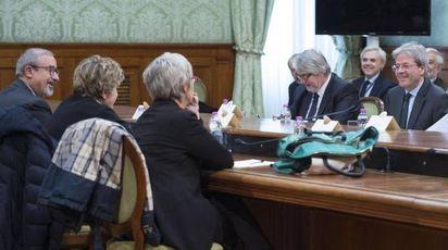 Pensioni, l'incontro governo-sindacati (Ansa)