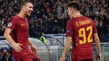 Verso Atletico Madrid-Roma, Dzeko con El Shaarawy (Ansa)