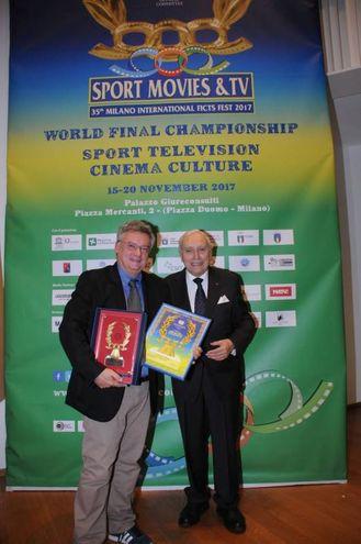 Roberto Davide Papini con il professor Franco Ascani, patron del premio