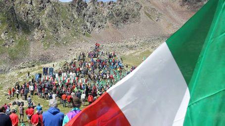 Il pellegrinaggio degli Alpini in Adamello