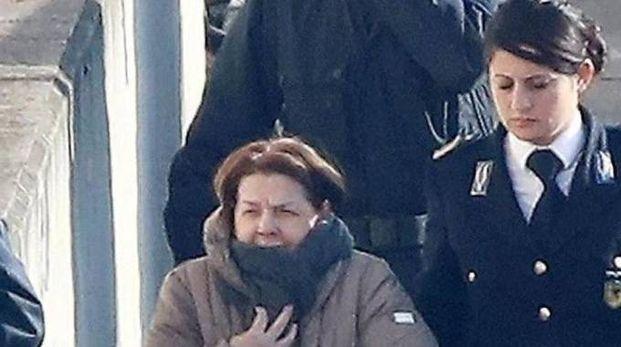 Rosa Bazzi arriva alla Corte d'Appelo di Brescia