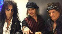 Alice Cooper, Johnny Depp e Joe Perry saranno in piazza Napoleone l'7 luglio