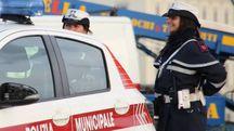 Una pattuglia della polizia municipale