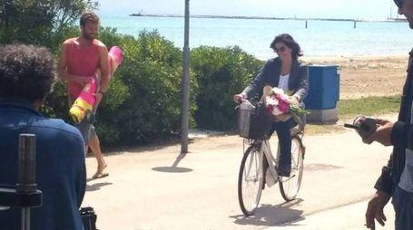 Le riprese della fiction 'Scomparsa' con Vanessa Incontrada (foto Sgattoni)