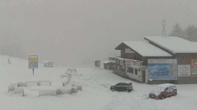 Previsioni meteo, arriva altra neve. Nella foto l'Appennino modenese (Dire)