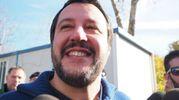 Matteo Salvini a Fiastra (foto Conforti)
