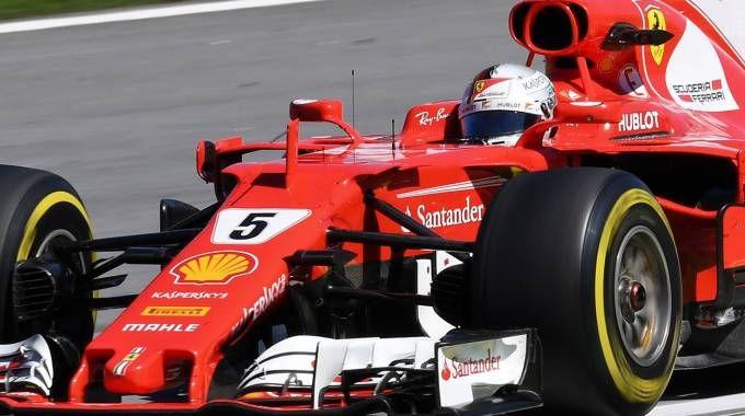 Il pilota Ferrari Sebastian Vettel (Afp)