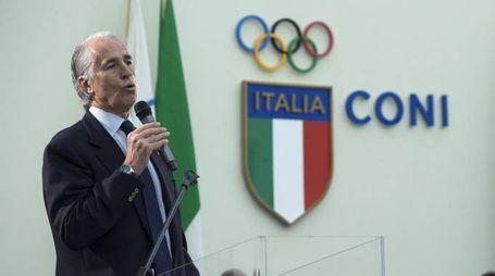 L'intervento del Presidente del Coni, Giovanni Malagò (foto Ansa)