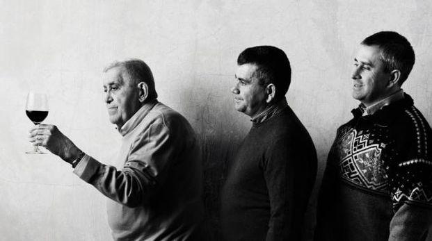 Sergio, Vittorio e David Navacchia dell'azienda agricola Tre Monti