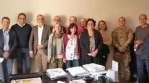 Il gruppo dei firmatari (foto Andreoli)