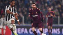 Juventus-Barcellona, Benatia e Messi (Afp)