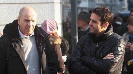 Kakà a Milano insieme al padre