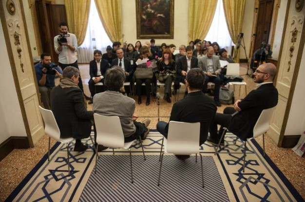 La conferenza stampa di presentazione della mostra (Foto Schicchi)