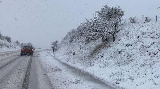 Previsioni meteo, la prossima settimana neve a bassa quota al Nord (foto Ansa)