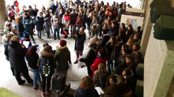 Una delle manifestazioni del 25 novembre a Lodi
