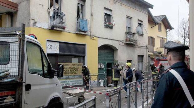 L'appartamento in via Garibaldi dove è avvenuta l'esplosione