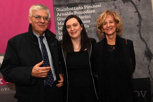 Luigi Raffa con la moglie e Stefania Dal Rio (foto Schicchi)