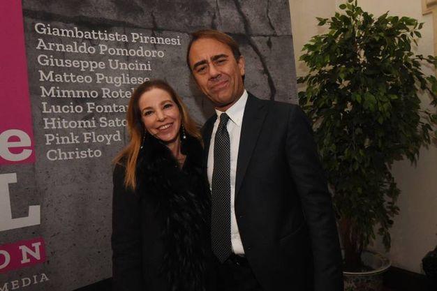 Il direttore di QN e il Resto del Carlino Andrea Cangini con la moglie Eva (foto Schicchi)