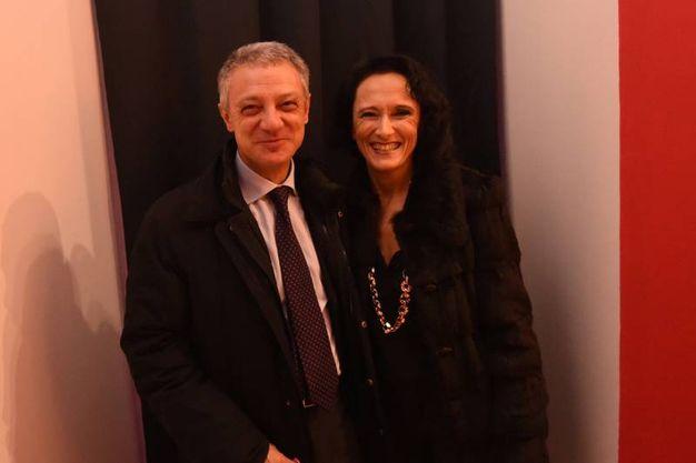 Alessandro Bonfiglioli con la moglie (foto Schicchi)