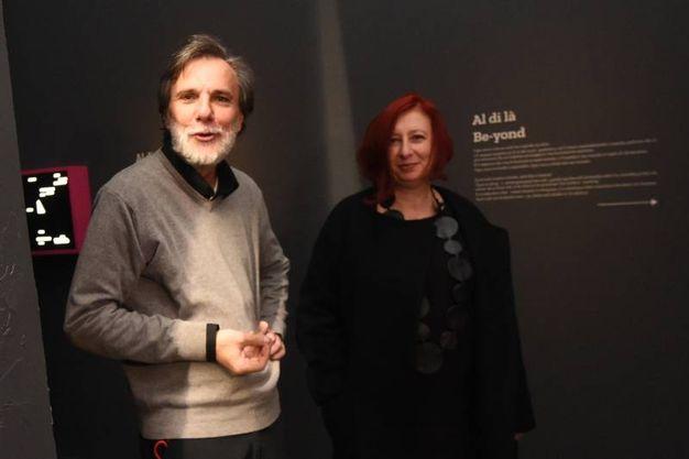 Claudio Mazzanti di Loop con Bruna Gambarelli (foto Schicchi)