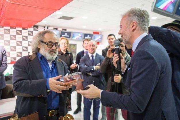 Lo stilista imprenditore Stefano Ricci con l'ad dell'Autodromo del Mugello Paolo Poli