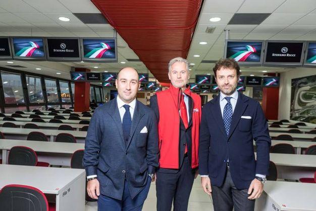 Filippo Ricci al centro, l'ad Paolo Poli e Niccolò Ricci