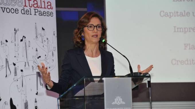 Mariastella Gelmini alla convention di Forza Italia