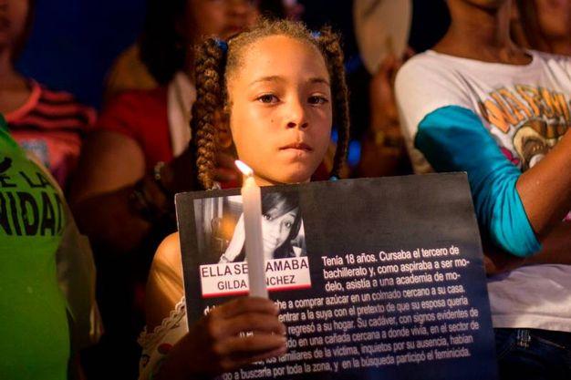 Santo Domingo, commemorazione per la giornata mondiale contro la violenza sulle donne (Afp)
