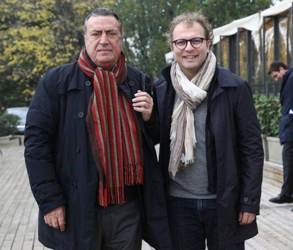 Il direttore de La Nazione, Francesco Carrassi con il ministro, Luca Lotti, al piazzale Michelangelo (New Pressphoto)