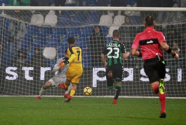 Il gol di Verde (foto Ansa)