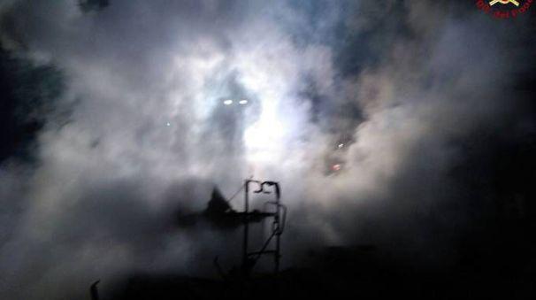 Marina di Grosseto, incendio in pineta