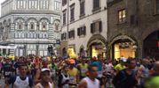 La partenza della Maratona di Firenze 2017