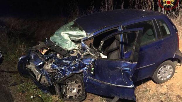 L'auto rimasta coinvolta nell'incidente