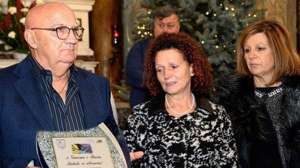 I genitori di Michele Scarponi(foto Luca Venturi)