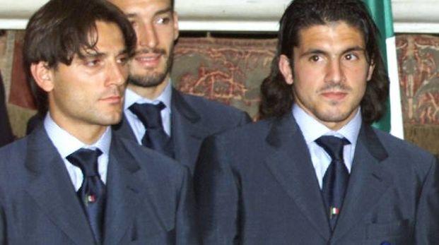 Montella e Gattuso, in una foto dei tempi della Nazionale