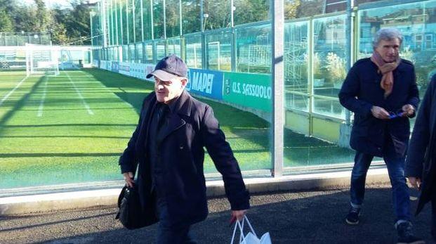 Iachini arriva allo stadio di Sassuolo (foto Fogliani)