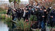 I paparazzi davanti a Kensington Palace (Afp)