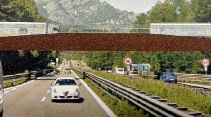 Il rendering del nuovo ponte