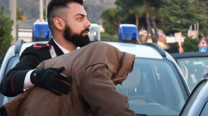 Marco Casonato il giorno dell'arresto