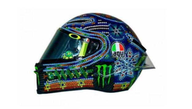 Il nuovo casco di Valentino Rossi, in stile messicano