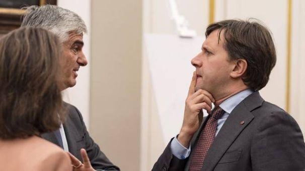 Il sindaco di Firenze Dario Nardella con Antonio Belloni direttone generale Lvmh