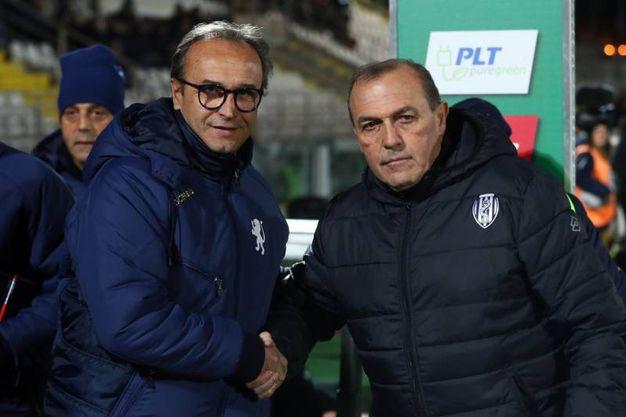 Pasquale Marino e Fabrizio Castori (Foto LaPresse)