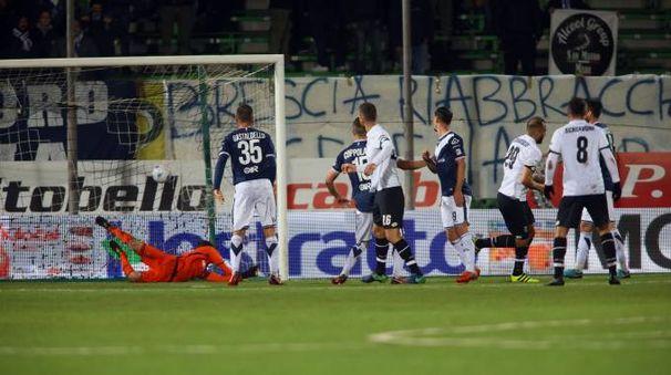 Il gol di Gennaro Scognamiglio (Foto LaPresse)