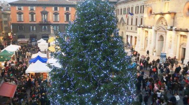 Il centro di Reggio nel periodo natalizio