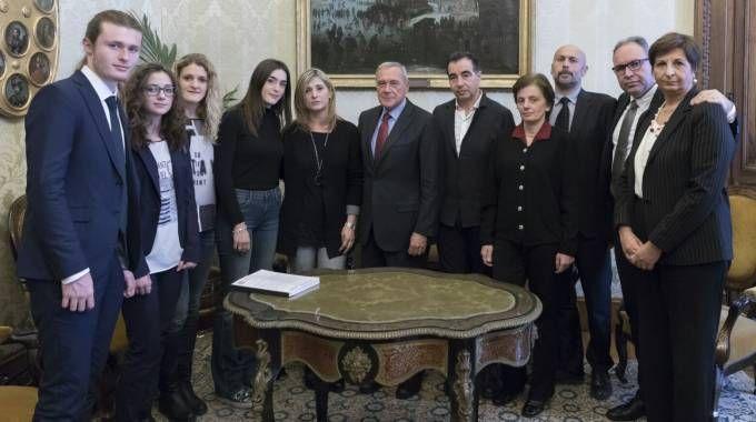 La famiglia Ciatti incontra il presidente del Senato Pietro Grasso