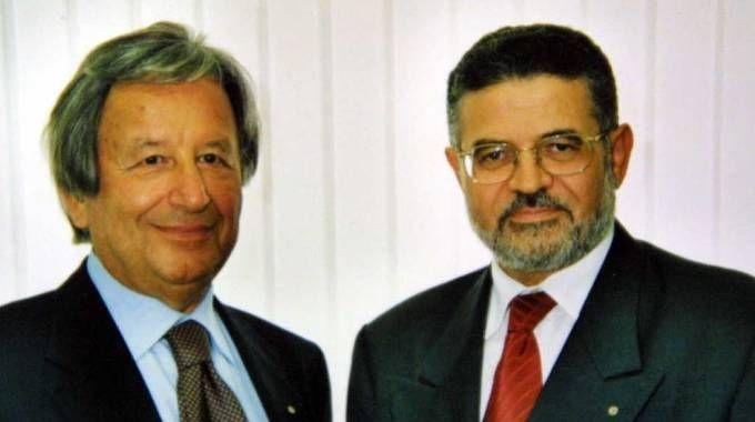 L'ex presidente Germano Lucchi e l'ex direttore Adriano Gentili (foto Ravaglia)