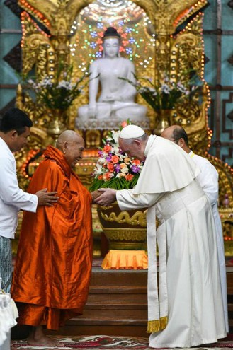 Risultati immagini per papa in myanmar